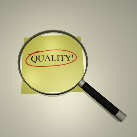 company: Magnifying glass focusing on the word  Stock Photo