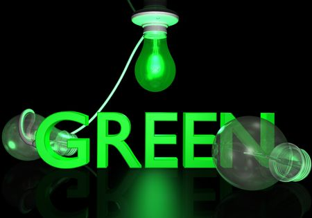 Green bulb showing  photo