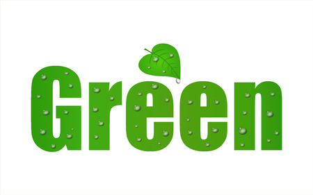 environmentally friendly: Go Green Leaf with a a white background.