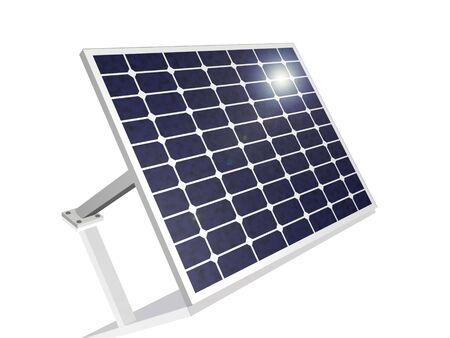 suns: 3D solar panel with suns reflection.
