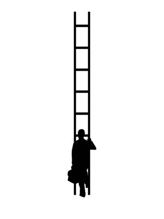 Ladder of Success Vector