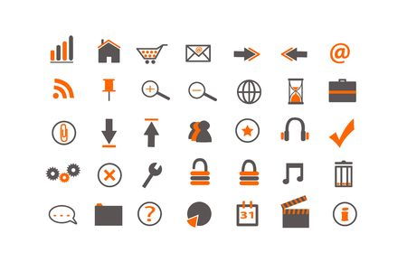 Web and Business Icons Stock Vector - 6844542