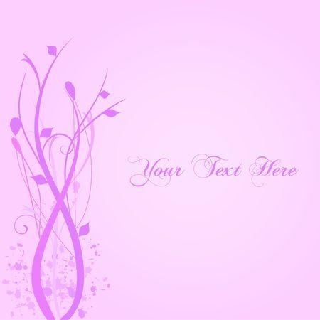 Pink Floral Background Illustration