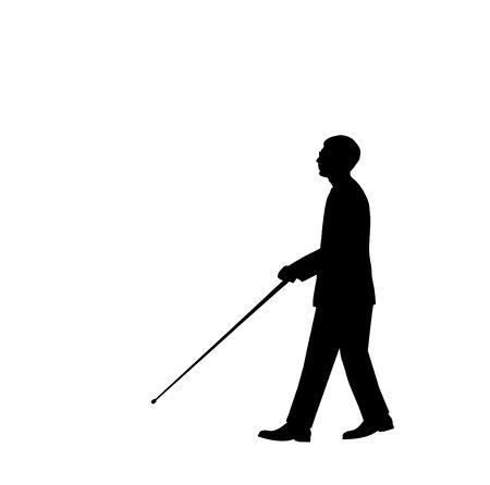 persiana: Silhouette uomo cieco