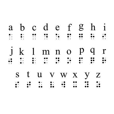 Braille Alphabet Stockfoto