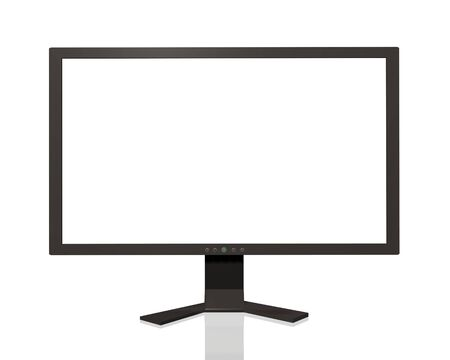 Image of a computer monitor isolated on a white background Stock Photo - 6851765