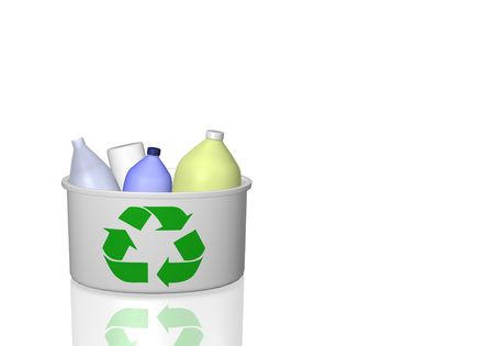 Image of a recycle bin isolated on a white background. Stock Photo - 6852100