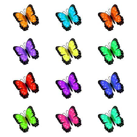 Butterflies Illustration Stock Illustration - 6852088