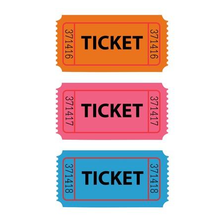 Ticket Illustration Standard-Bild