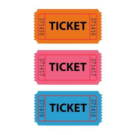 admit: Ticket Illustration Stock Photo