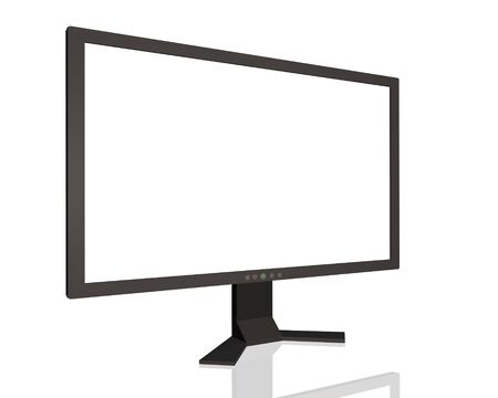Image of a computer monitor isolated on a white background. Stock Photo - 6852157