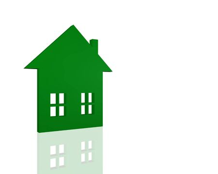 Image of a 3D symbol of a house isolated on a white background. Stock Photo - 6852171