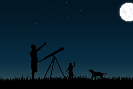 Family Stargazing photo