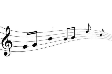 white sheet: Musical Notes