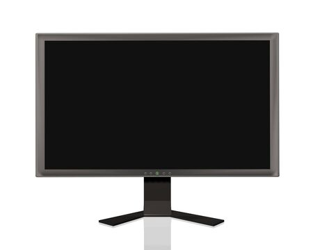 Image of a flat panel monitor isolated on a white background. Stock Photo - 6985201