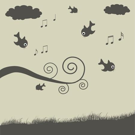 Birds Illustration Stock Illustration - 7005325