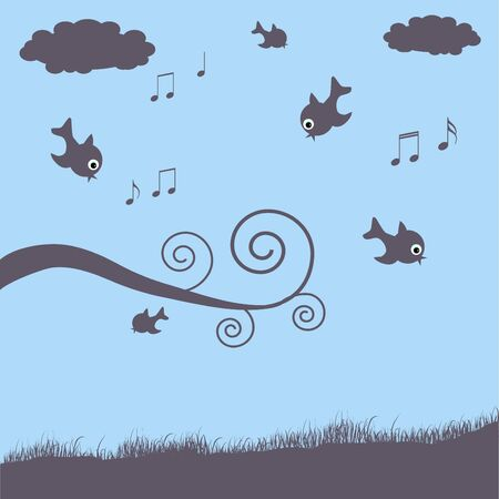Birds Illustration Stock Illustration - 7005318