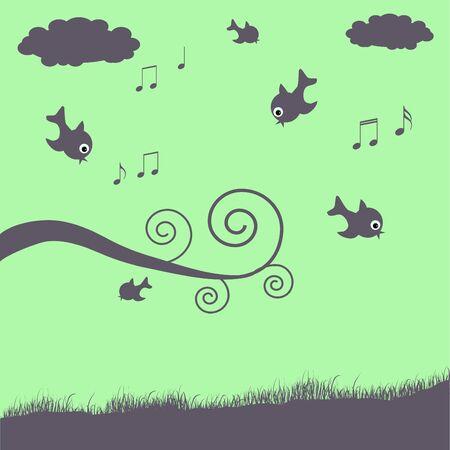 Birds Illustration Stock Illustration - 7005320