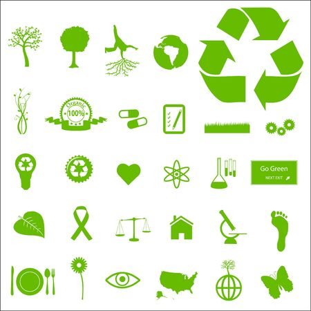 Eco and Green Icons Stock Photo - 7005338