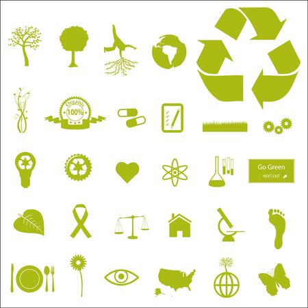 Eco and Green Icons Stock Photo - 7005348