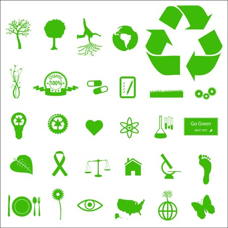 Eco and Green Icons Stock Photo - 7005347