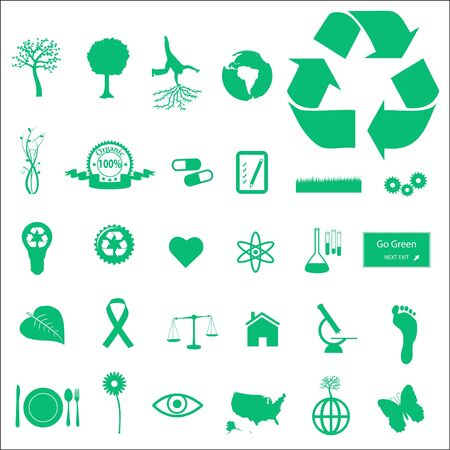 Eco and Green Icons Stock Photo - 7005337