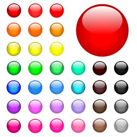 Ronda de botones de Web  Foto de archivo