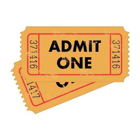 circus ticket: Vintage Tickets Stock Photo