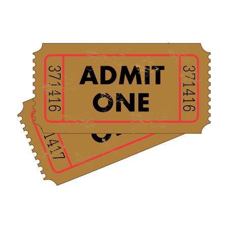 Vintage Tickets Standard-Bild