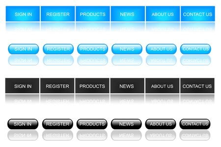 website buttons: Blue and Black Web Buttons Stock Photo