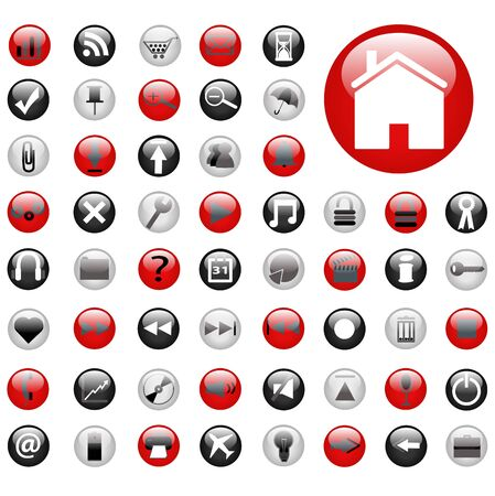 Red and Black Web Buttons Stock Photo - 7141646