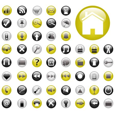 Yellow and Black Web Buttons Stock Photo - 7141643