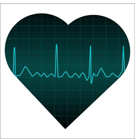 heart monitor: Blue Heart Monitor