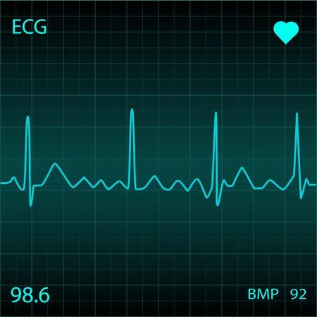 Monitor de coraz�n azul