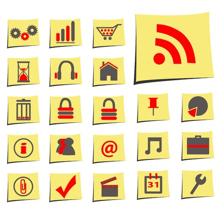 Business Memo Icons Stock Photo - 7141590