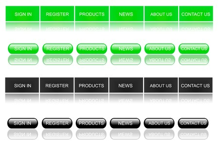 Green and Black Web Buttons photo