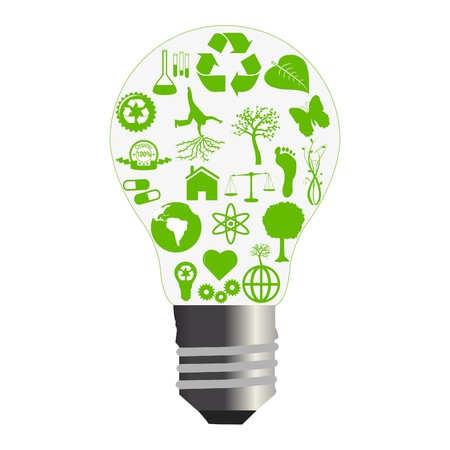 is green: Green Bulb Concept