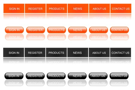 Orange Black Web Buttons
