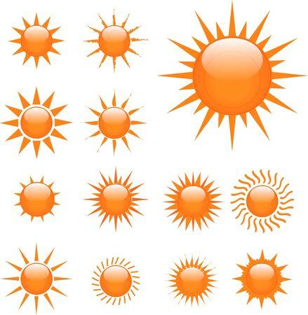 Orange Suns Illustration Stock Illustration - 7141619