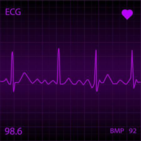 Purple Heart Monitor Stock Photo - 7141592
