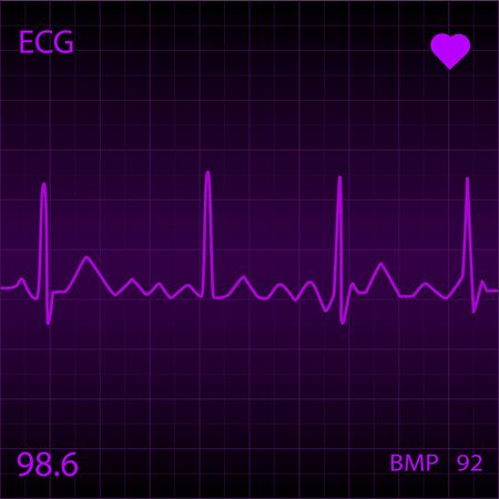 heart monitor: Purple Heart Monitor