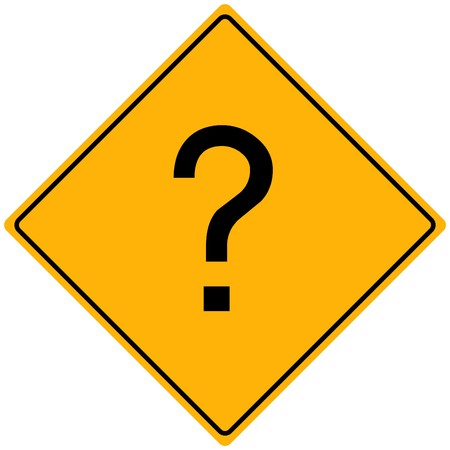 Image of a question mark on a yellow sign. Stock fotó
