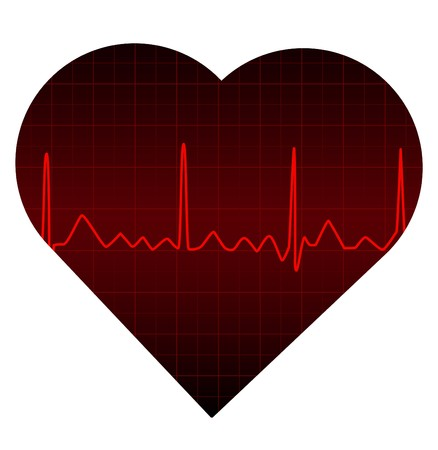 heart disease: Red Heart Monitor Stock Photo