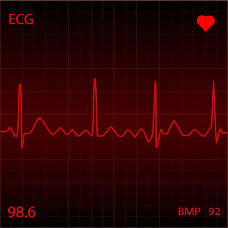Red Heart Monitor Stock Photo