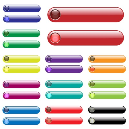 unlit: Various colorful web bars. (unlit and lit up)