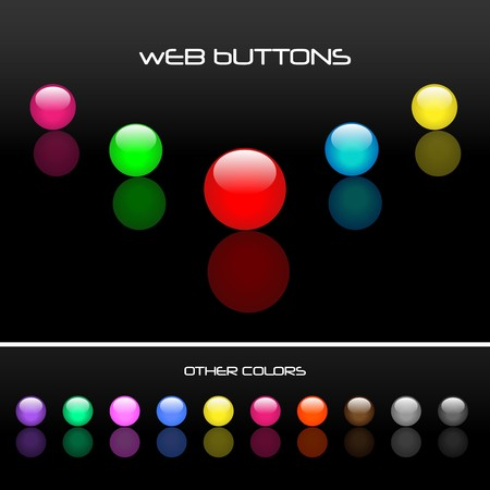 Round Web Buttons Stock Photo - 7141544