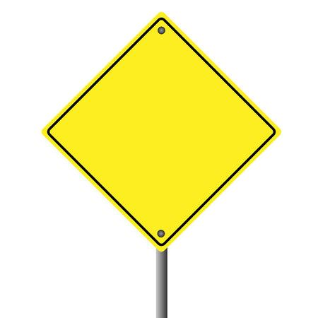 흰색 배경에 빈 노란색 기호 이미지.