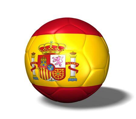 Imagen de un balón de fútbol con la bandera de España.  Foto de archivo - 7164138