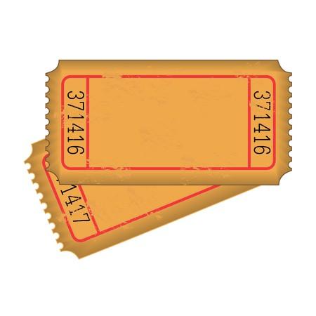 Vintage Blank Tickets Vector