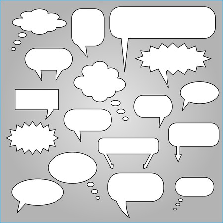 chat: Comic Speech Chat Bubbles Illustration